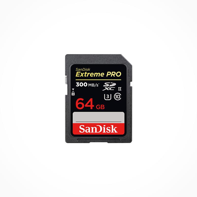 SANDISK Carte mémoire SDXC Extreme Pro 64Gb 300 Mb/s